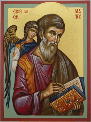 Apostle Matthew the Evangelist Icon Hand Painted Orthodox