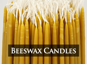 Beeswax Church Taper Candles