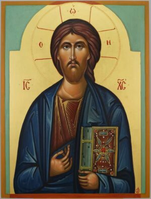 Christ Pantocrator Icon Hand Painted Byzantine Orthodox