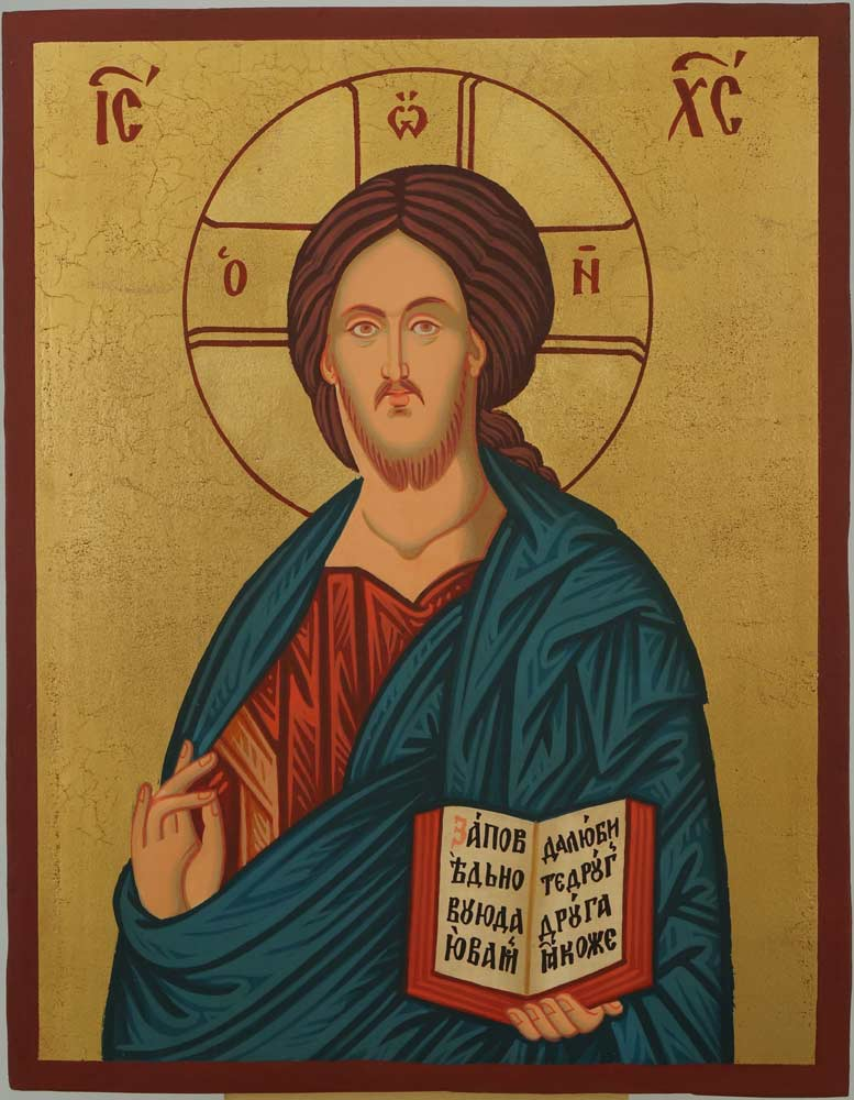 Christ Pantocrator Nesebar Icon Hand Painted Orthodox