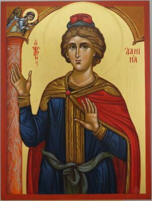 Holy Prophet Daniel Icon Hand Painted Orthodox Byzantine
