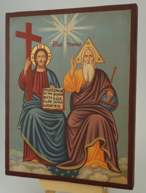 Holy Trinity New Testament Icon Hand Painted Orthodox