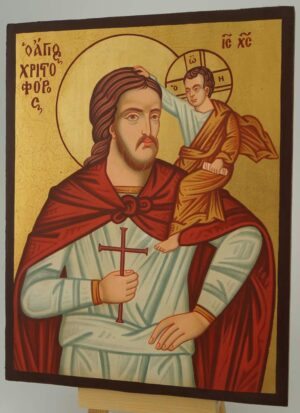 Saint Christopher of Lycia Icon Hand Painted Byzantine Orthodox