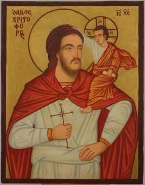 Saint Christopher of Lycia Icon Hand Painted Orthodox