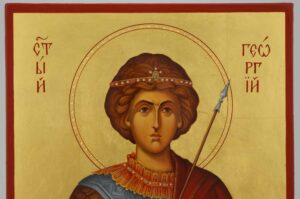 Saint George the Great Martyr Icon Hand Painted Byzantine Orthodox