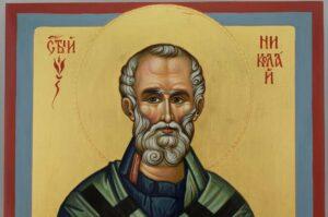 Saint Nicholas of Myra Icon Hand Painted Byzantine