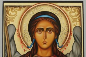 St Archangel Michael Icon Hand Painted Byzantine Orthodox