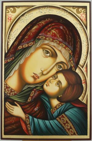Theotokos Tenderness Icon Hand Painted Orthodox