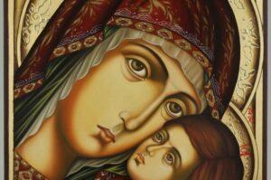 Theotokos Tenderness Icon Hand Painted Orthodox