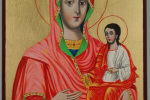 Theotokos the Guide Icon Hand Painted Byzantine Orthodox