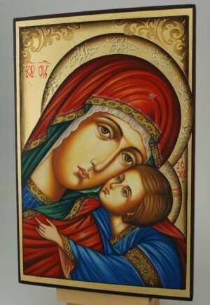 Virgin of Tenderness Icon Hand Painted Orthodox