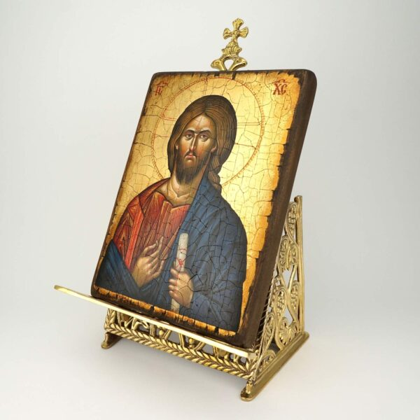 Deluxe Brass Byzantine Display Stand