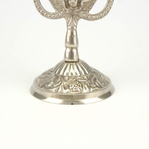 Double Nickel Plated Byzantine Candle Holder Candlestick