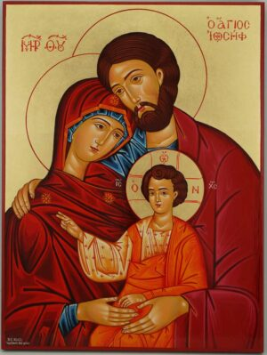 Holy Family Icon Byzantine Orthodox Hand Painted