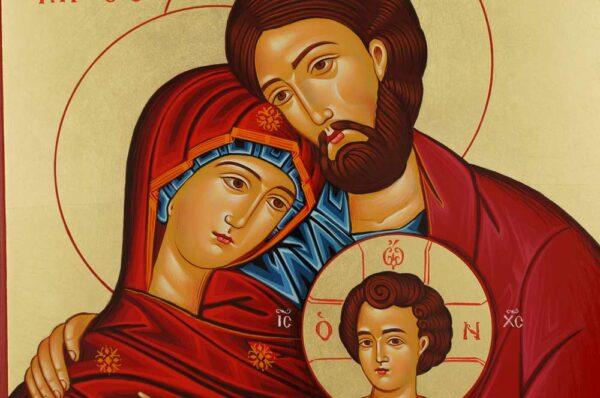 Holy Family Icon Byzantine Orthodox Hand Painted