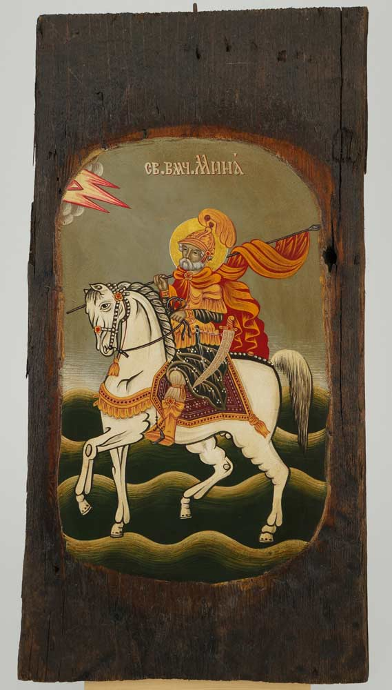 Saint Menas the Great Martyr Icon Orthodox Hand Painted