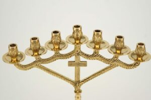 Seven Candle Cross Design Candle Stand