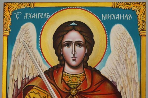 St Michael the Archangel Icon Hand Painted Byzantine Orthodox