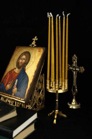 Traditional Brass Orthodox Home Candelabra