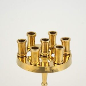 Traditional Seven Candle Brass Holder Orthodox Candlestick