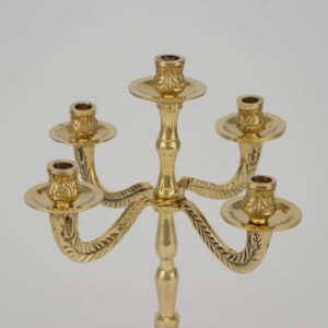 Brass Five Candle Candelabra Orthodox Candle Holder