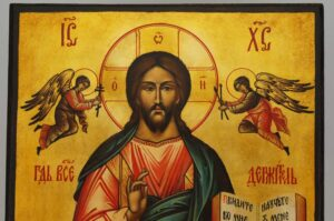 Christ Almighty Icon Pantocrator Hand Painted Byzantine Orthodox