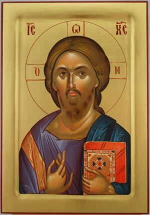 Christ Pantocrator Icon Hagia Sophia Hand Painted Byzantine Orthodox