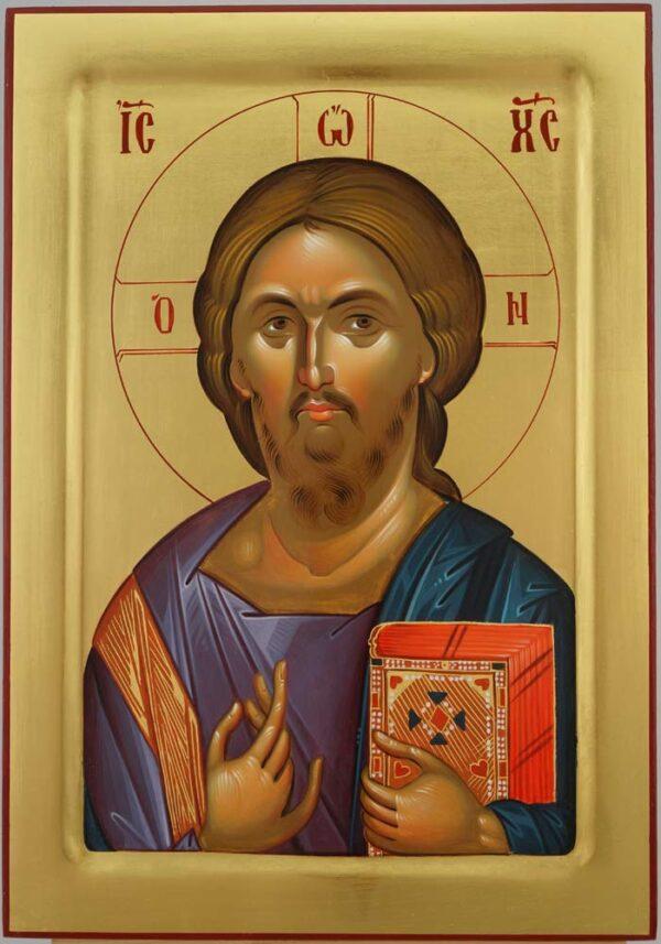 Christ Pantocrator Icon Hagia Sophia Hand Painted Byzantine Orthodox