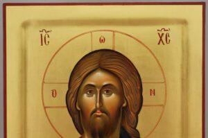 Christ Pantocrator Icon Mount Athos Vatopedi Monastery Hand Painted Byzantine Orthodox