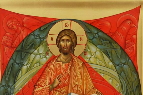 Christ in Majesty Icon Hand Painted Byzantine Orthodox