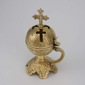 Cross Design Brass Incense Burner Censer for Home and Church Use Orthodox