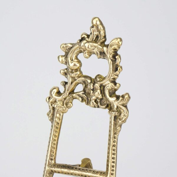 Decorated Brass Plated Orthodox Icon Stand Tripod Display Easels