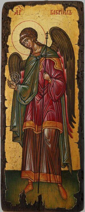 Gabriel the Archangel Icon Novgorod Hand Painted Byzantine Orthodox