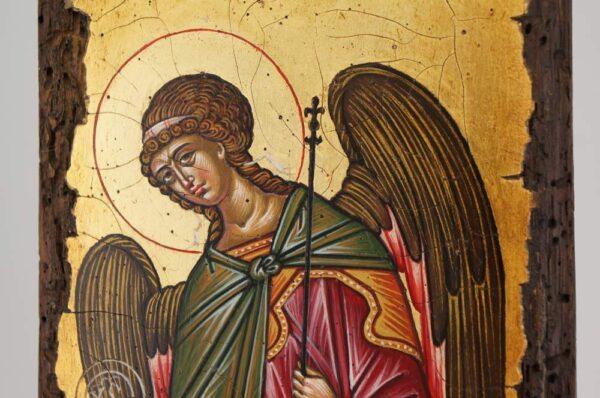 Gabriel the Archangel Icon Novgorod Hand Painted Byzantine Orthodox