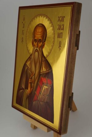 Hieromartyr Haralambos Bishop of Magnesia Icon Hand Painted Byzantine Orthodox