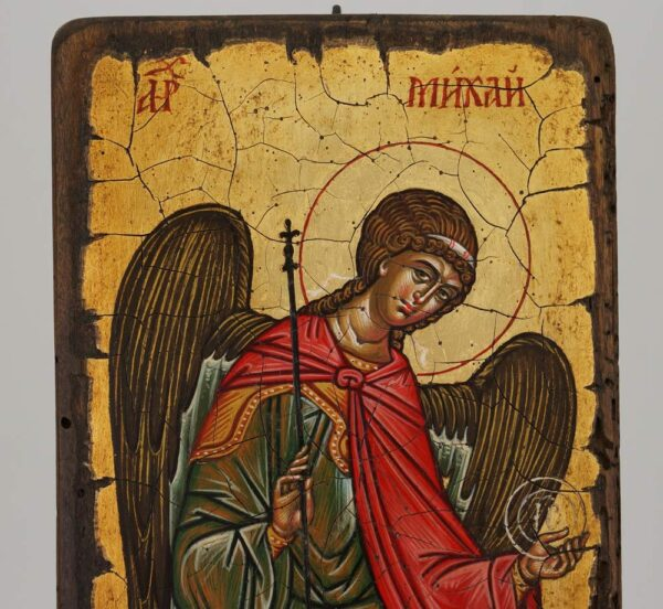 Michael the Archangel Icon Novgorod Hand Painted Byzantine Orthodox