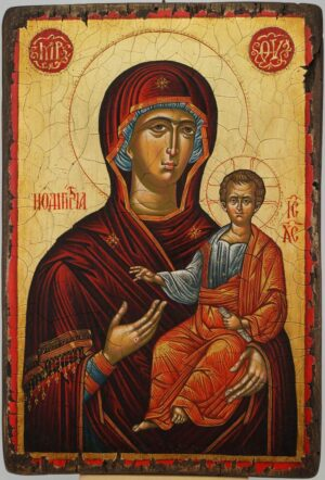 The Virgin Hodegetria Thrace Hand Painted Byzantine Orthodox