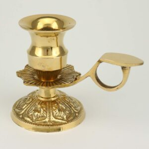 Traditional Brass Candle Holder with Handle