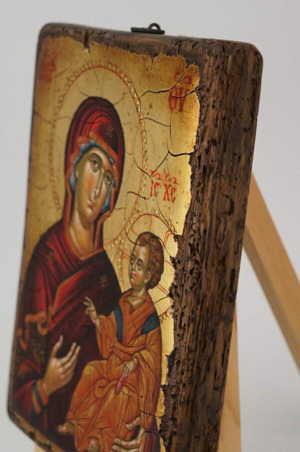 Virgin Mary Hodegitria Ohrid Hand Painted Byzantine Orthodox Icon