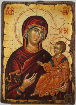 Virgin Mary Hodegitria Ohrid Hand Painted Byzantine Orthodox Icon