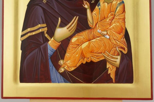 Virgin Mary the Guide Icon Hand Painted Byzantine Orthodox Cretan