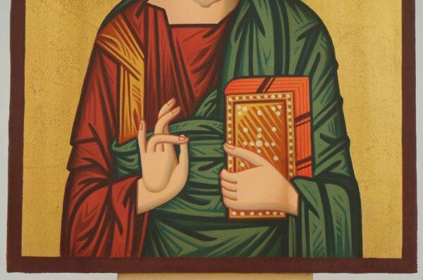 Christ Pantocrator Icon Hand Painted Byzantine Orthodox