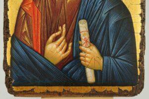 Christ Pantocrator Icon Vatopedi Monastery Mount Athos Hand Painted Byzantine Orthodox