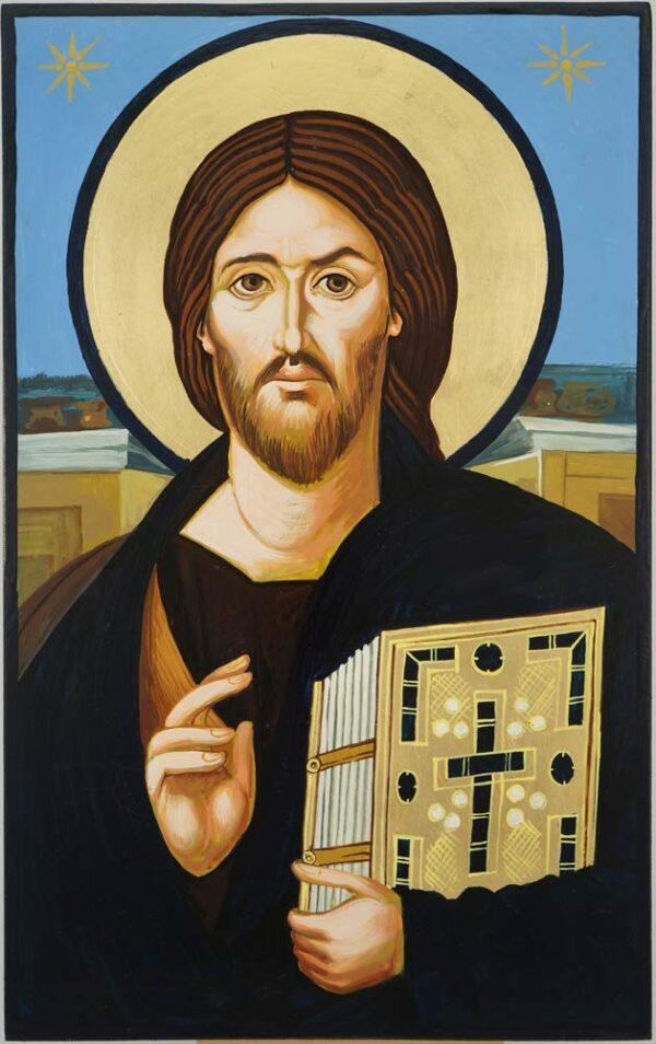 Christ Pantocrator Sinai Icon Hand Painted Byzantine Orthodox