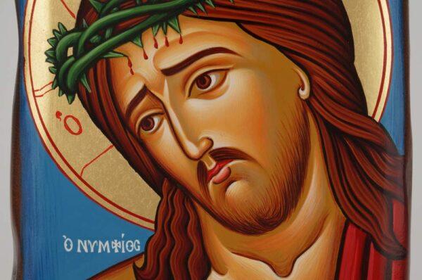 Christ the Bridegroom Icon Hand Painted Greek Orthodox Byzantine