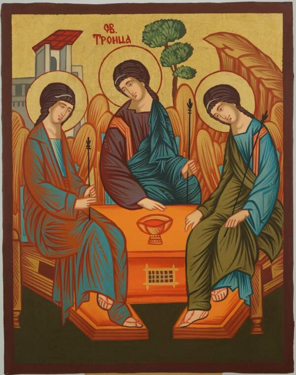 Holy Trinity Icon Andrei Rublev Hand Painted Byzantine Orthodox