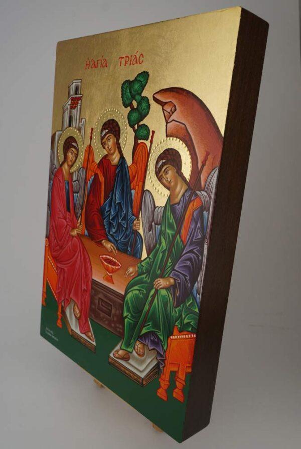 Holy Trinity Icon Hospitality of Abraham Rublev Hand Painted Greek Orthodox Byzantine