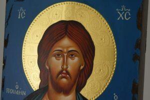 Jesus Christ the Good Shepherd Icon Hand Painted Greek Orthodox Byzantine