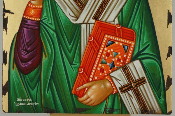 Saint Patrick Icon Hand Painted Greek Orthodox Byzantine Ireland