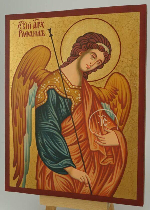 St Archangel Raphael the Healer Icon Hand Painted Byzantine Orthodox